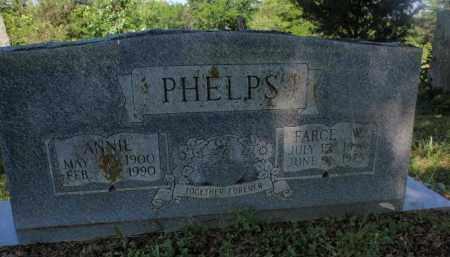 PHELPS, FARCE W - Fulton County, Arkansas | FARCE W PHELPS - Arkansas Gravestone Photos