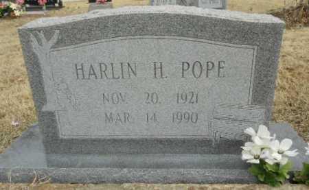 POPE, HARLIN H. - Fulton County, Arkansas   HARLIN H. POPE - Arkansas Gravestone Photos