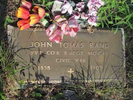 RAND (VETERAN UNION), JOHN TOMAS - Fulton County, Arkansas | JOHN TOMAS RAND (VETERAN UNION) - Arkansas Gravestone Photos
