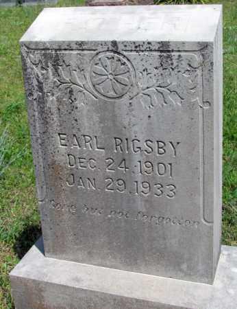 RIGSBY, EARL - Fulton County, Arkansas | EARL RIGSBY - Arkansas Gravestone Photos