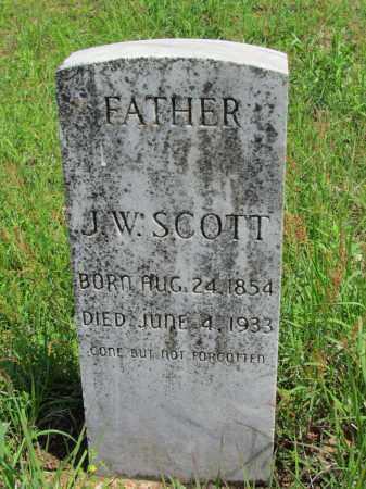 SCOTT, J W - Fulton County, Arkansas   J W SCOTT - Arkansas Gravestone Photos