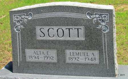 SCOTT, ALTA E. - Fulton County, Arkansas   ALTA E. SCOTT - Arkansas Gravestone Photos