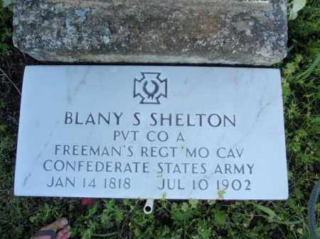 SHELTON  (VETERAN CSA), BLANY S - Fulton County, Arkansas | BLANY S SHELTON  (VETERAN CSA) - Arkansas Gravestone Photos