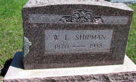 SHIPMAN, W L - Fulton County, Arkansas | W L SHIPMAN - Arkansas Gravestone Photos