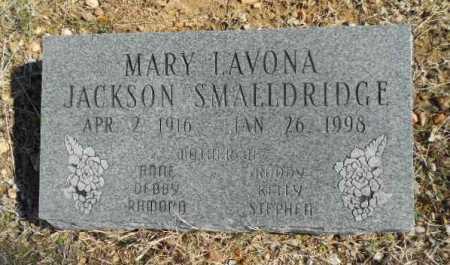 "JACKSON SMALLDRIDGE, MARY LAVONA ""VONA"" - Fulton County, Arkansas | MARY LAVONA ""VONA"" JACKSON SMALLDRIDGE - Arkansas Gravestone Photos"
