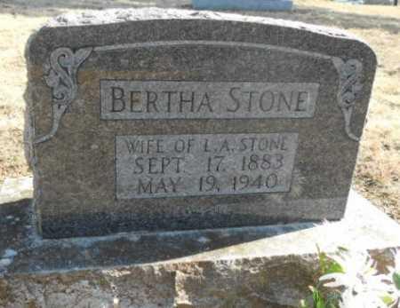 BOLLIN STONE, BERTHA - Fulton County, Arkansas | BERTHA BOLLIN STONE - Arkansas Gravestone Photos