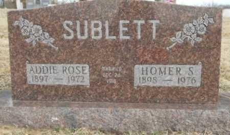 "SMITH SUBLETT, ADELINE ROSELLA ""ADDIE ROSE"" - Fulton County, Arkansas   ADELINE ROSELLA ""ADDIE ROSE"" SMITH SUBLETT - Arkansas Gravestone Photos"