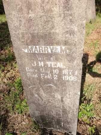 TEAL, MARRY M - Fulton County, Arkansas | MARRY M TEAL - Arkansas Gravestone Photos