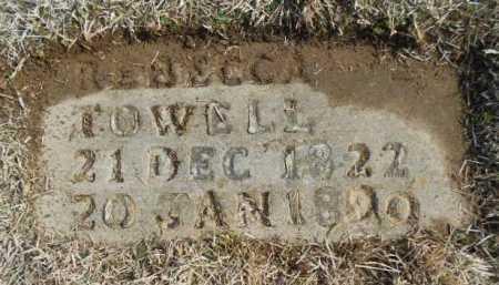 TOWELL, REBECCA EMMALINE - Fulton County, Arkansas   REBECCA EMMALINE TOWELL - Arkansas Gravestone Photos