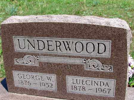 UNDERWOOD, LUECINDA - Fulton County, Arkansas | LUECINDA UNDERWOOD - Arkansas Gravestone Photos