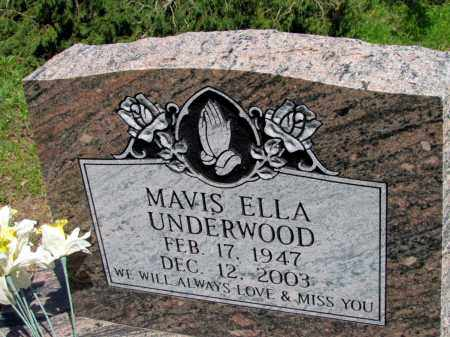 UNDERWOOD, MAVIS ELLA - Fulton County, Arkansas | MAVIS ELLA UNDERWOOD - Arkansas Gravestone Photos