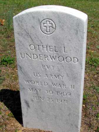 UNDERWOOD (VETERAN WWII), OTHEL L - Fulton County, Arkansas | OTHEL L UNDERWOOD (VETERAN WWII) - Arkansas Gravestone Photos