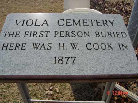 *VIOLA CEMETERY SIGN,  - Fulton County, Arkansas |  *VIOLA CEMETERY SIGN - Arkansas Gravestone Photos