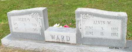 WARD, ALVIN W - Fulton County, Arkansas | ALVIN W WARD - Arkansas Gravestone Photos