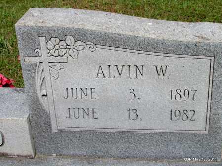 WARD, ALVIN W (CLOSEUP) - Fulton County, Arkansas | ALVIN W (CLOSEUP) WARD - Arkansas Gravestone Photos
