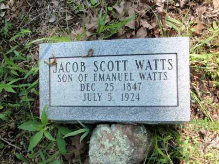 WATTS, JACOB SCOTT - Fulton County, Arkansas | JACOB SCOTT WATTS - Arkansas Gravestone Photos