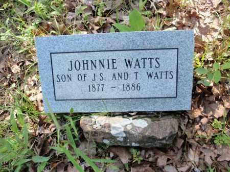 WATTS, JOHNNIE - Fulton County, Arkansas   JOHNNIE WATTS - Arkansas Gravestone Photos