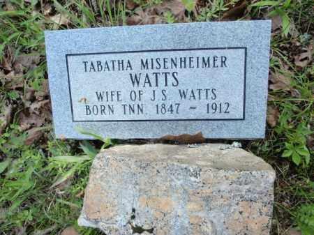 MISENHEIMER WATTS, TABATHA - Fulton County, Arkansas | TABATHA MISENHEIMER WATTS - Arkansas Gravestone Photos