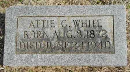 WHITE, ATTIE C - Fulton County, Arkansas | ATTIE C WHITE - Arkansas Gravestone Photos