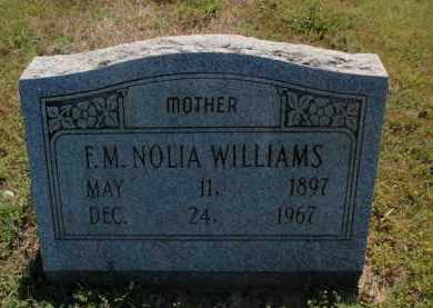 WILLIAMS, F M NOLIA - Fulton County, Arkansas | F M NOLIA WILLIAMS - Arkansas Gravestone Photos
