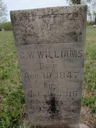 WILLIAMS, G W - Fulton County, Arkansas   G W WILLIAMS - Arkansas Gravestone Photos