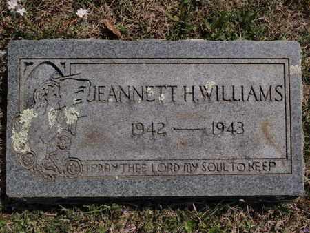 WILLIAMS, JEANNETT H - Fulton County, Arkansas | JEANNETT H WILLIAMS - Arkansas Gravestone Photos