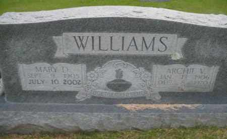 WILLIAMS, ARCHIE V - Fulton County, Arkansas | ARCHIE V WILLIAMS - Arkansas Gravestone Photos