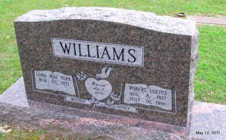 WILLIAMS, ROBERT LUCIUS - Fulton County, Arkansas | ROBERT LUCIUS WILLIAMS - Arkansas Gravestone Photos