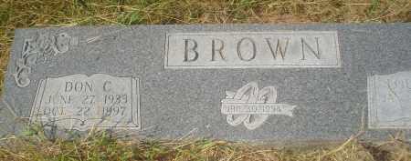 BROWN, DON C. - Garland County, Arkansas | DON C. BROWN - Arkansas Gravestone Photos