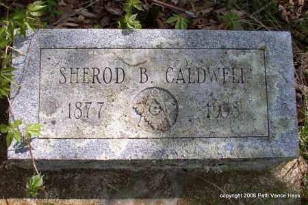 CALDWELL, SHEROD B. - Garland County, Arkansas   SHEROD B. CALDWELL - Arkansas Gravestone Photos
