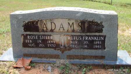 SHELL ADAMS, ROSE - Grant County, Arkansas | ROSE SHELL ADAMS - Arkansas Gravestone Photos