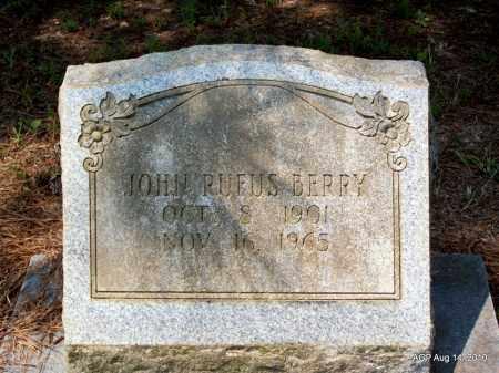 BERRY, JOHN RUFUS - Grant County, Arkansas | JOHN RUFUS BERRY - Arkansas Gravestone Photos