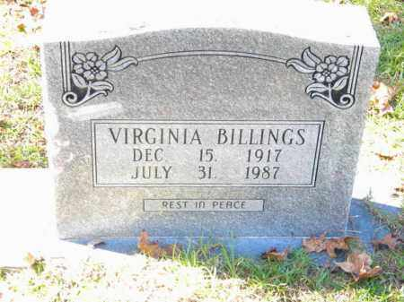 BILLINGS, VIRGINIA - Grant County, Arkansas   VIRGINIA BILLINGS - Arkansas Gravestone Photos