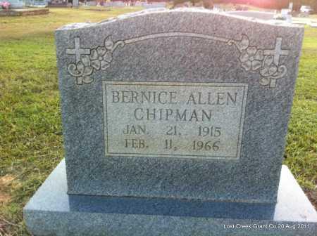 ALLEN CHIPMAN, BERNICE - Grant County, Arkansas | BERNICE ALLEN CHIPMAN - Arkansas Gravestone Photos
