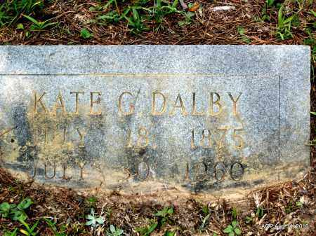 DALBY, KATE G - Grant County, Arkansas | KATE G DALBY - Arkansas Gravestone Photos