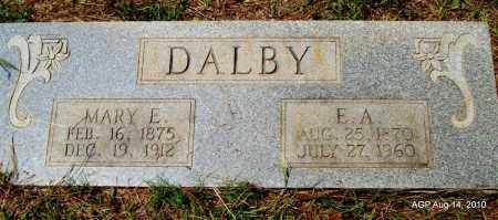 DALBY, E A - Grant County, Arkansas | E A DALBY - Arkansas Gravestone Photos