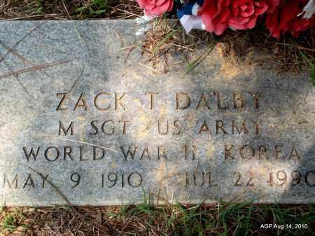 DALBY (VETERAN 2 WARS), ZACK T - Grant County, Arkansas   ZACK T DALBY (VETERAN 2 WARS) - Arkansas Gravestone Photos