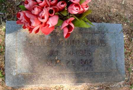 DAVIS, ALICE - Grant County, Arkansas | ALICE DAVIS - Arkansas Gravestone Photos