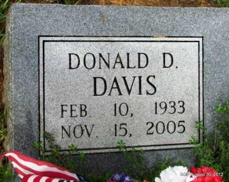 DAVIS, DONALD D - Grant County, Arkansas | DONALD D DAVIS - Arkansas Gravestone Photos