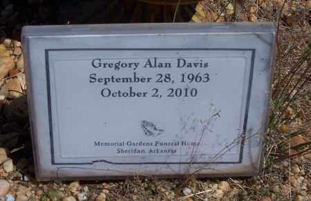 DAVIS, GREGORY ALAN - Grant County, Arkansas   GREGORY ALAN DAVIS - Arkansas Gravestone Photos