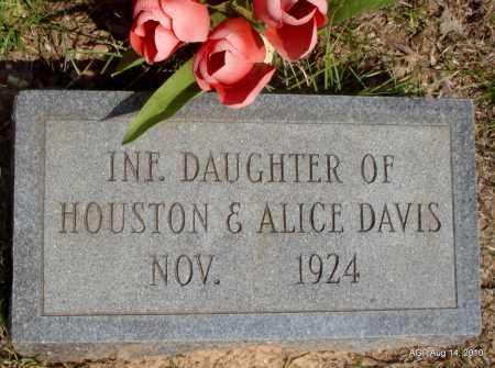 DAVIS, INFANT DAUGHTER - Grant County, Arkansas | INFANT DAUGHTER DAVIS - Arkansas Gravestone Photos