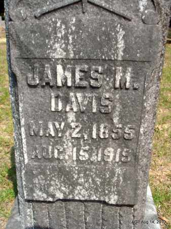 DAVIS, JAMES M (CLOSE UP) - Grant County, Arkansas | JAMES M (CLOSE UP) DAVIS - Arkansas Gravestone Photos