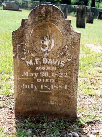 DAVIS, M F - Grant County, Arkansas | M F DAVIS - Arkansas Gravestone Photos