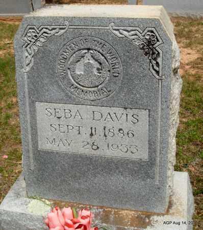 DAVIS, SEBA - Grant County, Arkansas | SEBA DAVIS - Arkansas Gravestone Photos