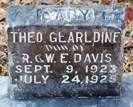 DAVIS, THEO GEARLDINE - Grant County, Arkansas | THEO GEARLDINE DAVIS - Arkansas Gravestone Photos
