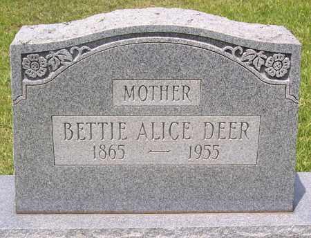 DEER, BETTIE ALICE - Grant County, Arkansas | BETTIE ALICE DEER - Arkansas Gravestone Photos