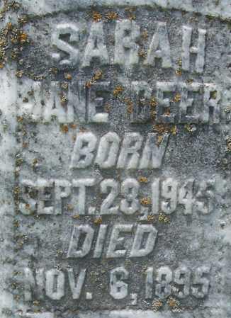DEER, SARAH JANE (CLOSE UP) - Grant County, Arkansas   SARAH JANE (CLOSE UP) DEER - Arkansas Gravestone Photos