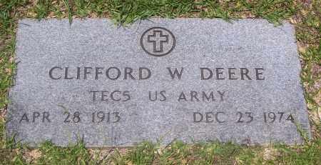 DEERE (VETERAN), CLIFFORD W - Grant County, Arkansas | CLIFFORD W DEERE (VETERAN) - Arkansas Gravestone Photos