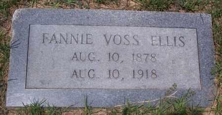 VOSS ELLIS, FANNIE - Grant County, Arkansas | FANNIE VOSS ELLIS - Arkansas Gravestone Photos