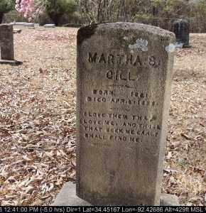 GILL, MARTHA S - Grant County, Arkansas   MARTHA S GILL - Arkansas Gravestone Photos